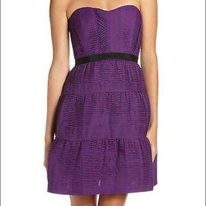 Bcbg dress purple and black size 10